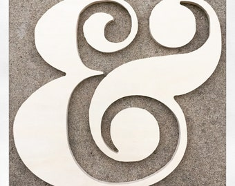This beautiful ampersand is 12 inches tall, and can be modified at any size.