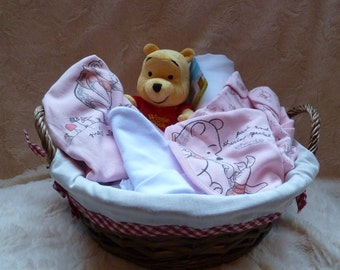 Winnie the pooh baby basket hamper