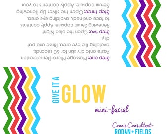 Give it a Glow Mini-facial bag tags