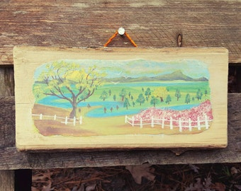 Hand painted wall hanging scenic beauty