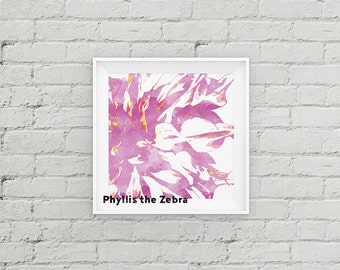 Lavender Watercolor Flower painting/pop art print/8x8 watercolor print/Printable/art wall decor/download/