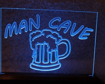 Man cave LED lighted sign