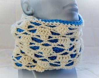 Reversible Cowl crochet knit handmade scarf infinity scarf