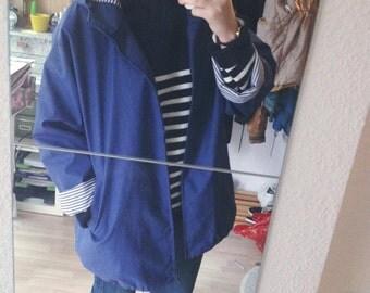 Parka (waxed jacket) Navy Blue