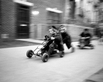 Go cart kids, Brooklyn, NYC.