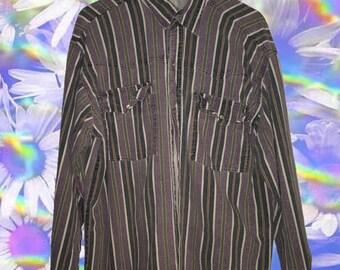 PB pearl snap shirt // no size on tag seems like a large