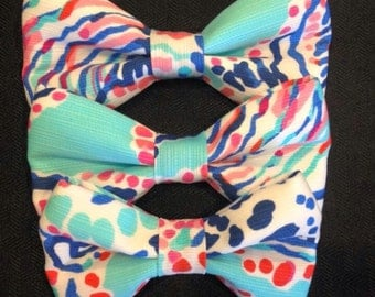 Lilly Pulitzer clip on Bow Tie or Hair Bow