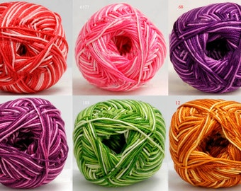 Melange yarn for knitting, yarn for crochet, cotton yarn, mercerized cotton, melange yarn, BEGONIA MELANGE, summer yarn, yarn for sale