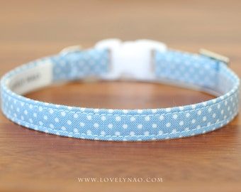 Lovely Dots Cat Collar –  Blue