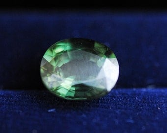 Loose Sapphire, Natural Gemstone,  Alluring Green Sapphire, Oval Cut Loose Gemstone 3.67ct