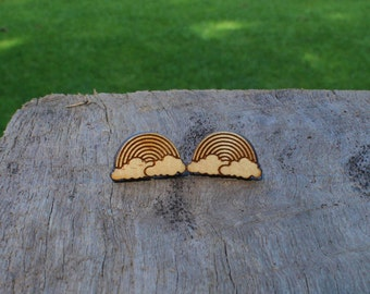 Rainbow Timber Earrings