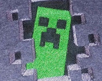 Minecraft Creeper Machine Embroidery Design