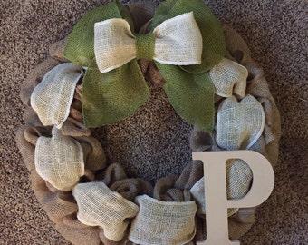 Rustic Burlap Wreath