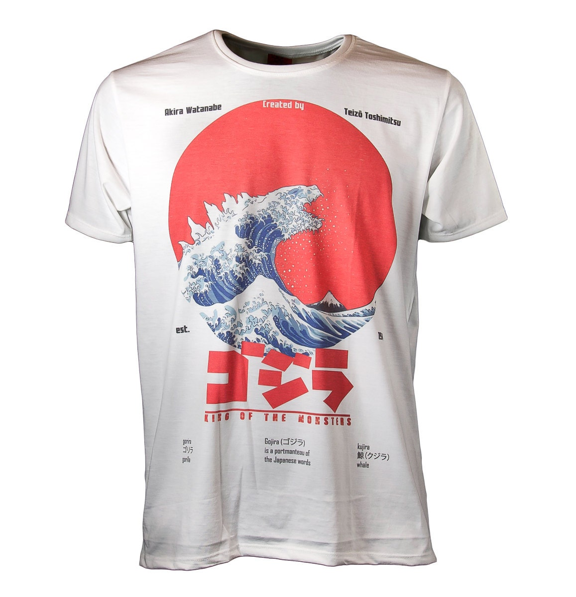 godzilla tshirt mens t shirt printed shirt by bkkstore