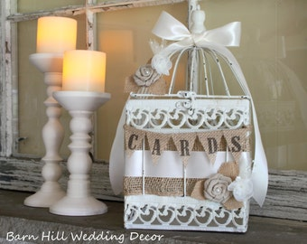 Birdcage Card Holder Wedding Card Holder Bird Cage Card Holder White Birdcage Card Box Wedding Decor