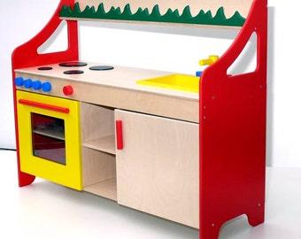 Fantastic Wooden Kids Complete Kitchen