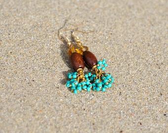Beaded Earrings | African earrings | Handmade earrings | African Design | East Africa | Punda Milia
