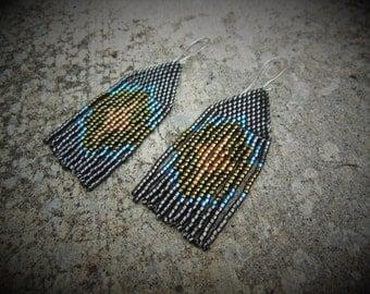 Tassel Woven Dangle Earrings