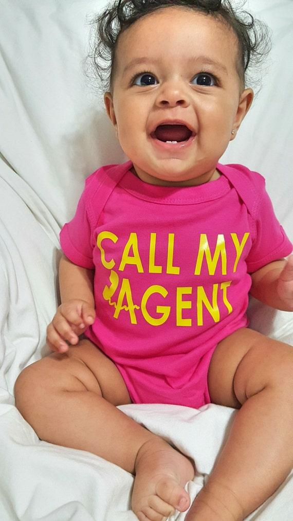 Custom Onesie Call My Agent Body Suit