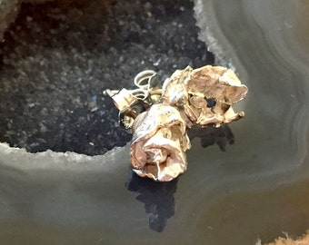 Water Rosebud Stud Earrings