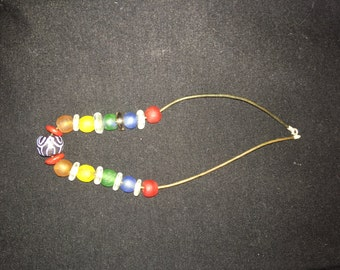 Handmade African Bead Necklace