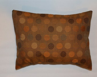 Exclusive 12x16 Orange Rust Brown Cirlce Decorative Throw Lumbar Pillow