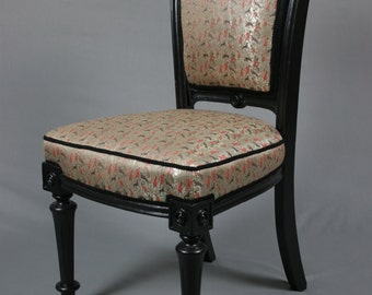 Antique Early 19th Century Black Occasional Chair