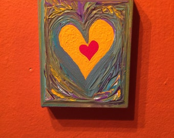 """Hand painted canvas 4""""X5"""". For wall hanging or put it in easel."""