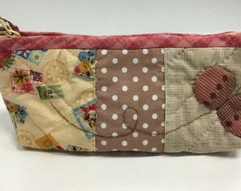 Quilted & Applique pencil case