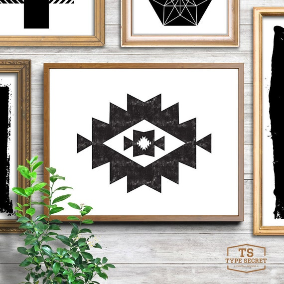 Southwestern decor tribal art mayan print kilim ikat - Ways decorating using kilim print ...