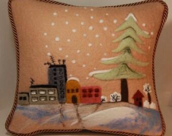 handmade felt pillow