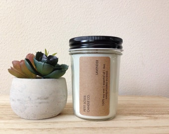6oz hand-poured soy candle - lavender