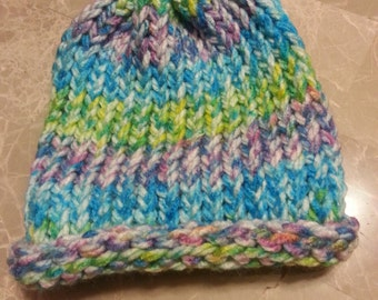 kid's size brimless knitted hat