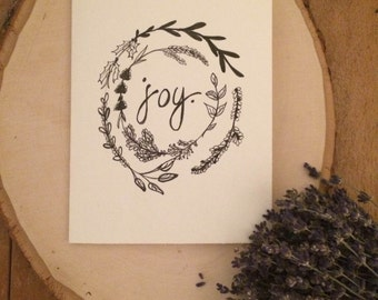 """Positive Paper Co. """"Joy"""" Holiday Card"""