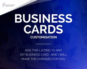 ADD-ON: Business Card Customisation Support, Business Card Edit and change, Customize Support