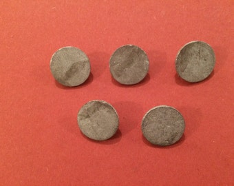 18mm Flat Pewter Button (5 Pack) - Re-Enactment, Living History