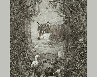 Peter and the Wolf - Limited edition print