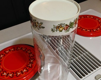 Rare Corning Ware Spaghetti Keeper Glass Storage Container 1970s Made in USA American Made