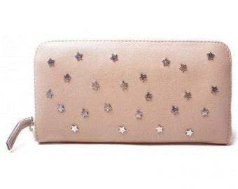 Morado Bags star stud purse taupe silver