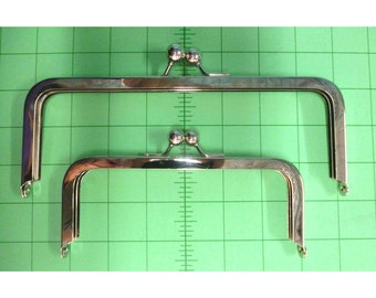 Purse Frame  6 x 2.5 in or 8 x 3 in Nickel Finish Glue In BARGAIN