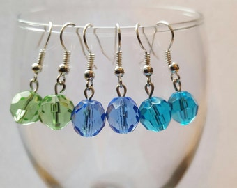 Glass bead earrings. 3 pairs