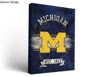University of Michigan Wolverines Canvas Wall Art