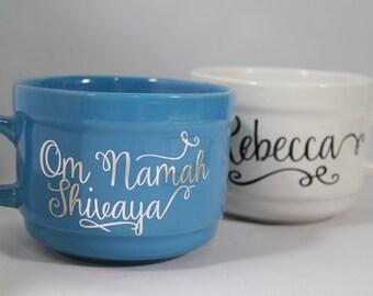 Om Namah Shivaya  Meditation Yoga Jumbo Coffee Mug Soup Mug Personalized