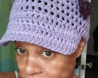 Lupus survivor beanie with and without brim