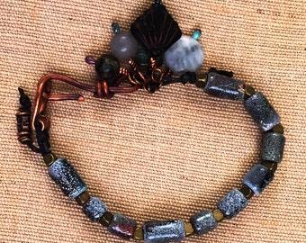 Enameled bead bracelet
