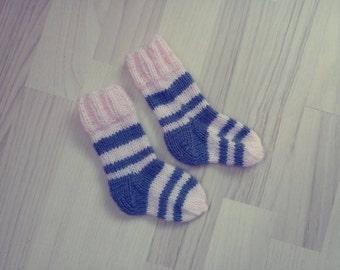 Child knitted socks for girl