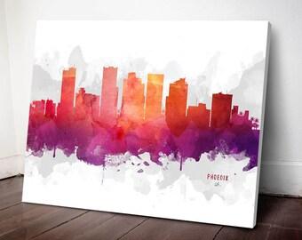 Phoenix Skyline Canvas, Phoenix Print, Phoenix Art, Phoenix Gift, Phoenix Cityscape, MMR-USAZPH04C