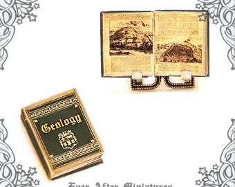 GEOLOGY TEXTBOOK Dollhouse Miniature Book – 1:12 Geology Science Miniature Book – Rock Earth Science Student Geology Book Printable DOWNLOAD