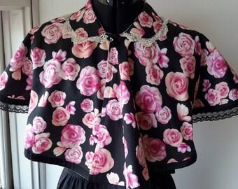 Woman's floral Handmade Bolero/ Cape.