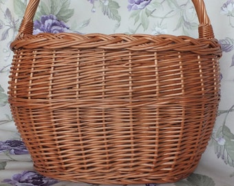 Wicker Storage Basket, Large Wicker Picnic Basket, Old Basket